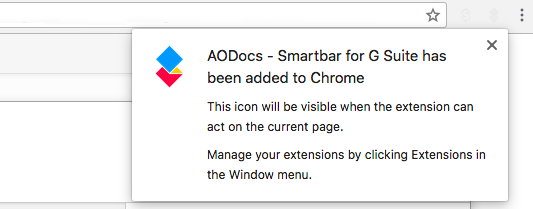 Install the AODocs Smartbar – AODocs Knowledge Base
