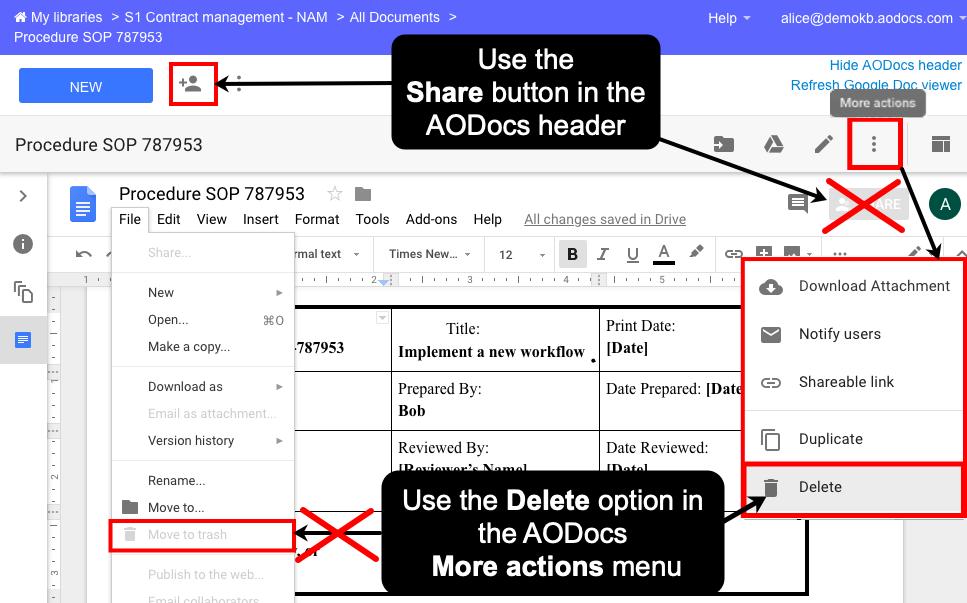 Google file attachments: limitations – AODocs Knowledge Base