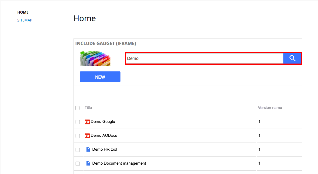 Insert a view into a Google Site – AODocs Knowledge Base
